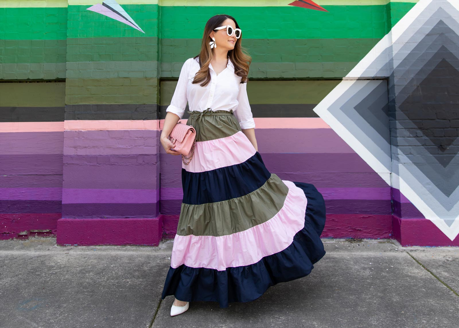 Anthropologie Tiered Maxi Skirt
