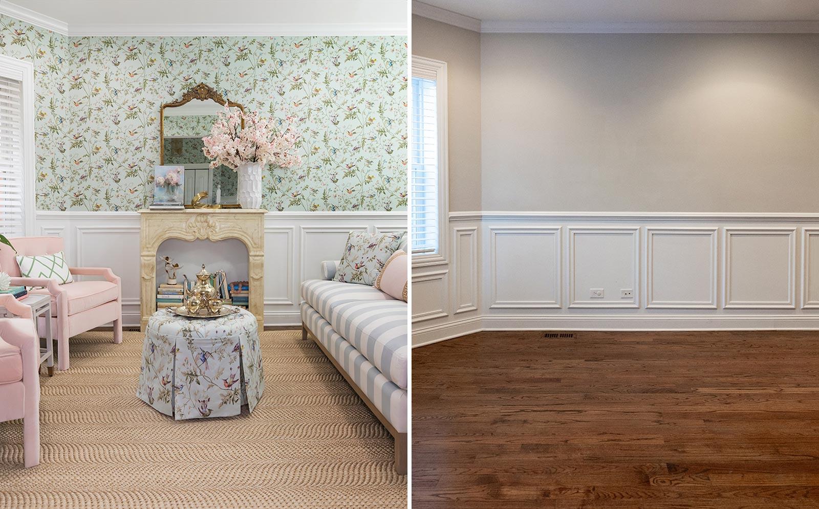 Jennifer Lake Ballard Living Room Design Before After