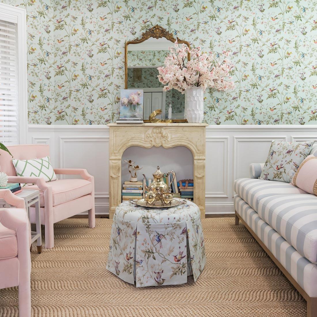 Jennifer Lake Ballard Living Room Design Wallpaper