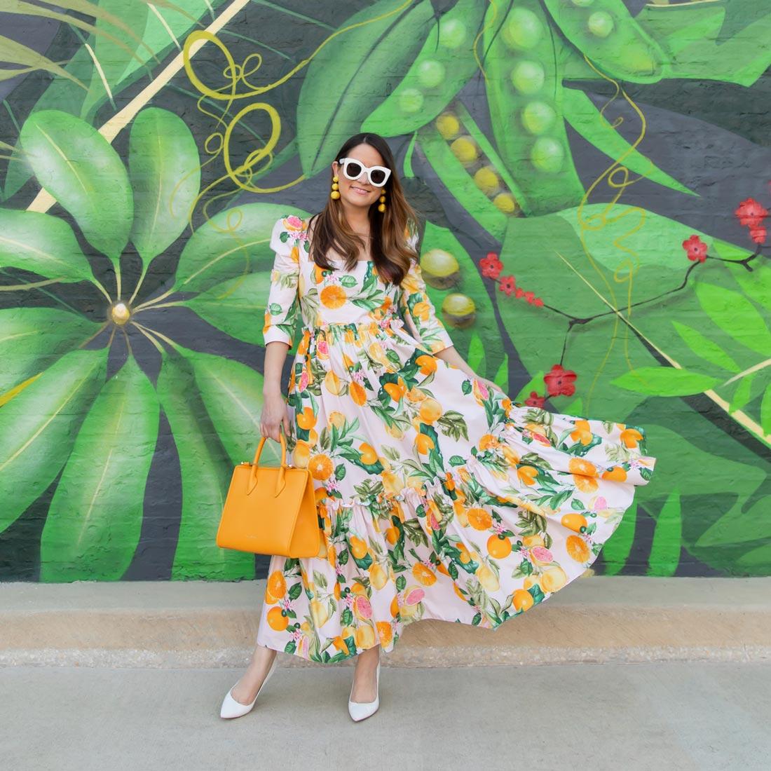 Jennifer Lake Cara Cara Orange Dress