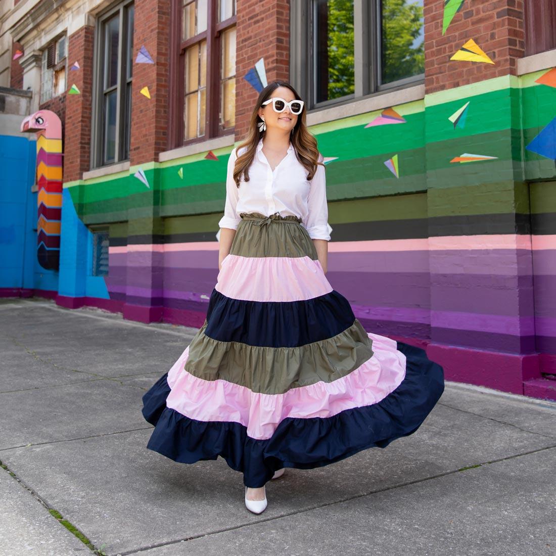 Jennifer Lake Hutch Penelope Striped Skirt