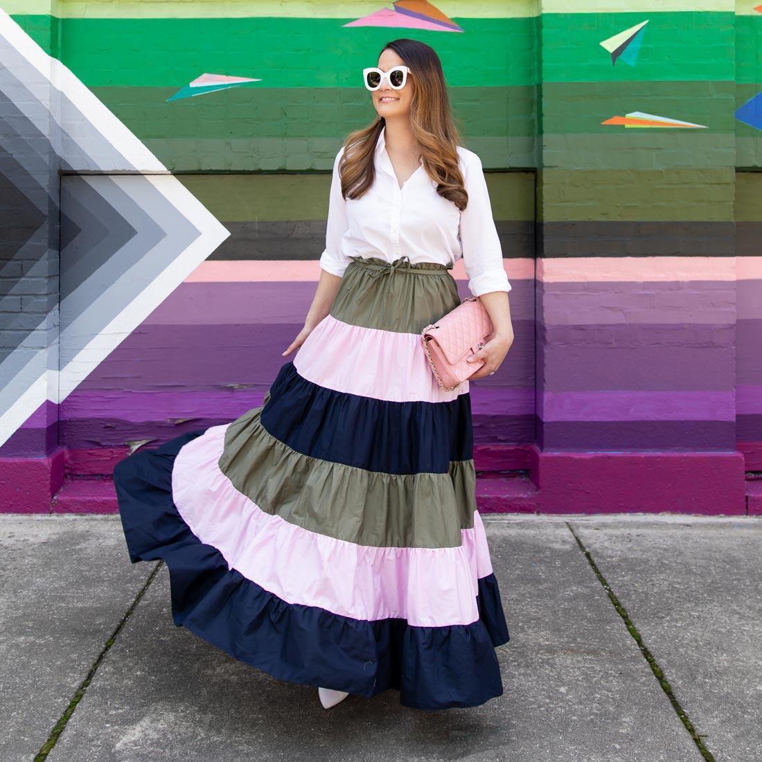 Jennifer Lake Hutch Striped Skirt