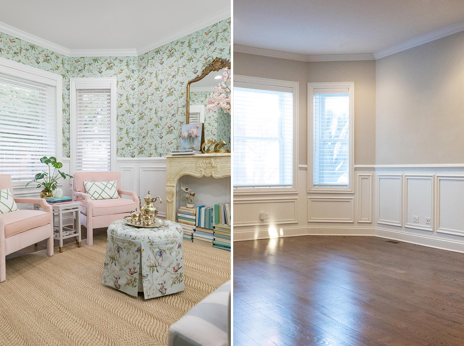 Jennifer Lake Living Room Before After