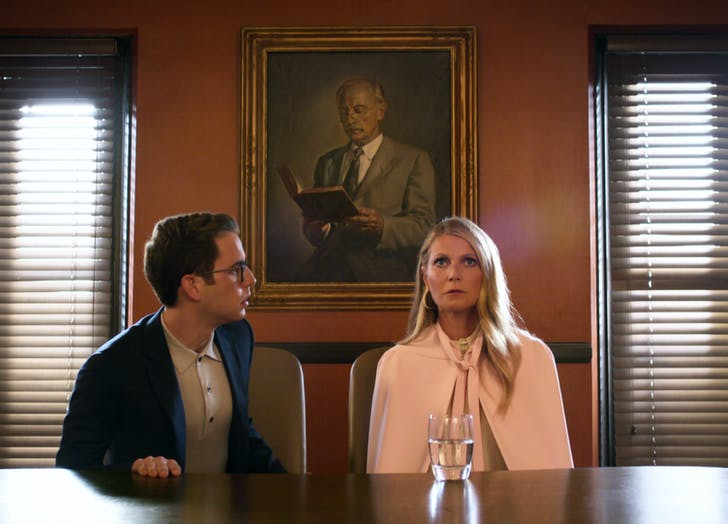Politician Gwyneth Paltrow Cape Coat