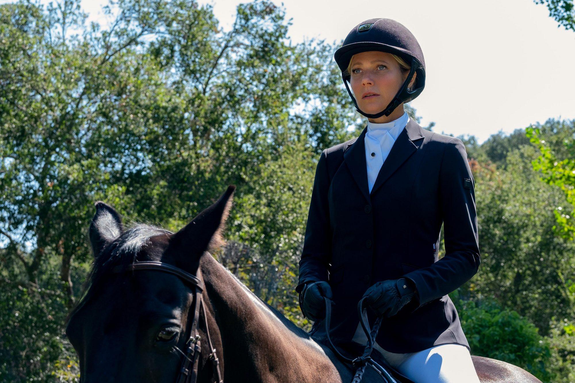 Politician Gwyneth Paltrow Equestrian Look