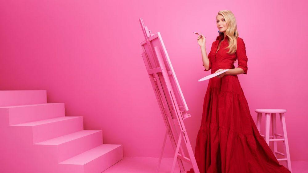 Politician Gwyneth Paltrow Red Gown
