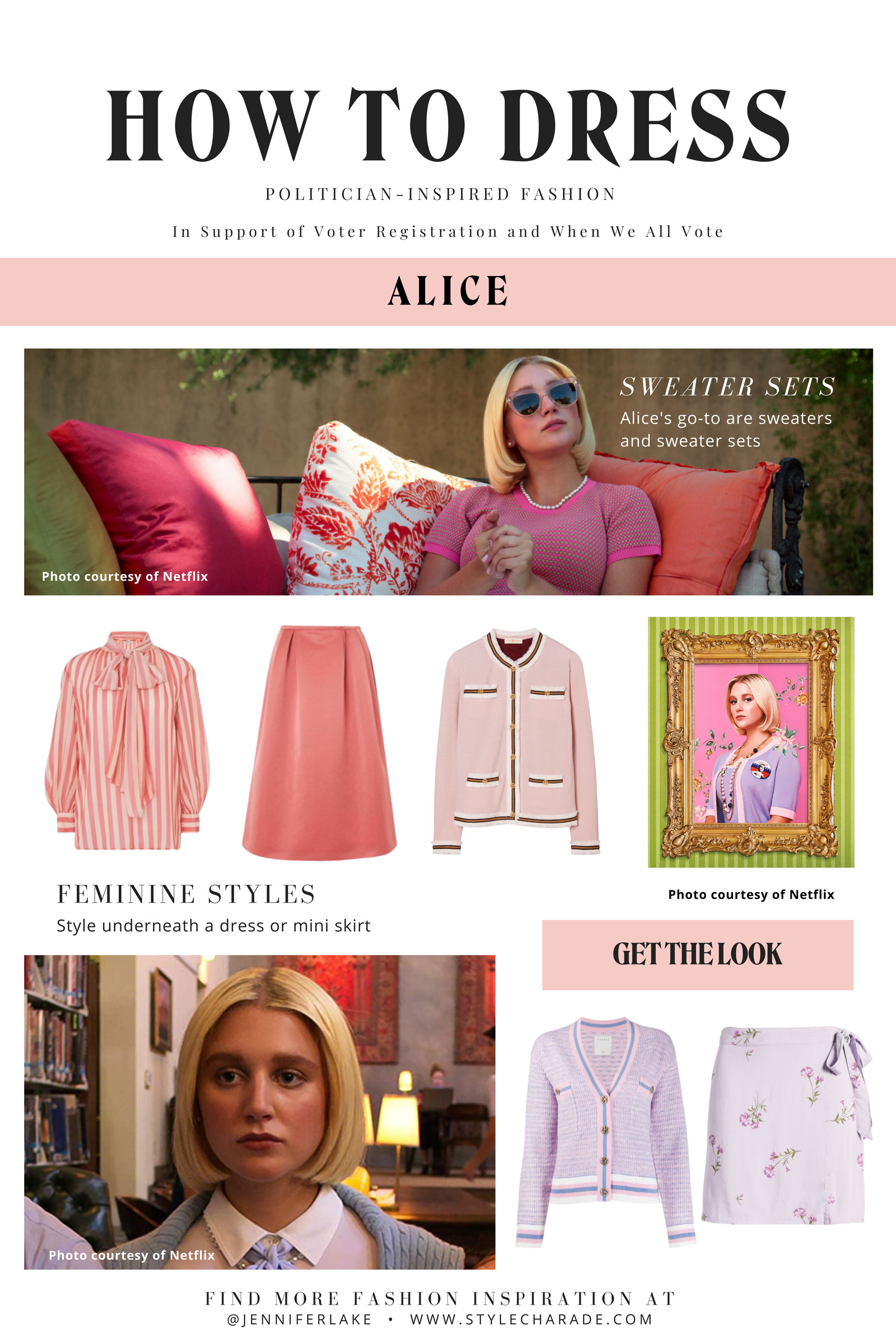 Politician Alice Charles Outfits