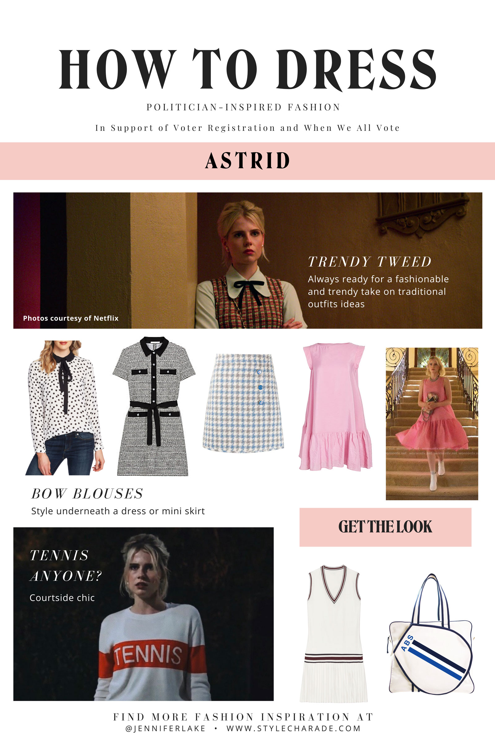 Politician Astrid Sloan Outfit Ideas