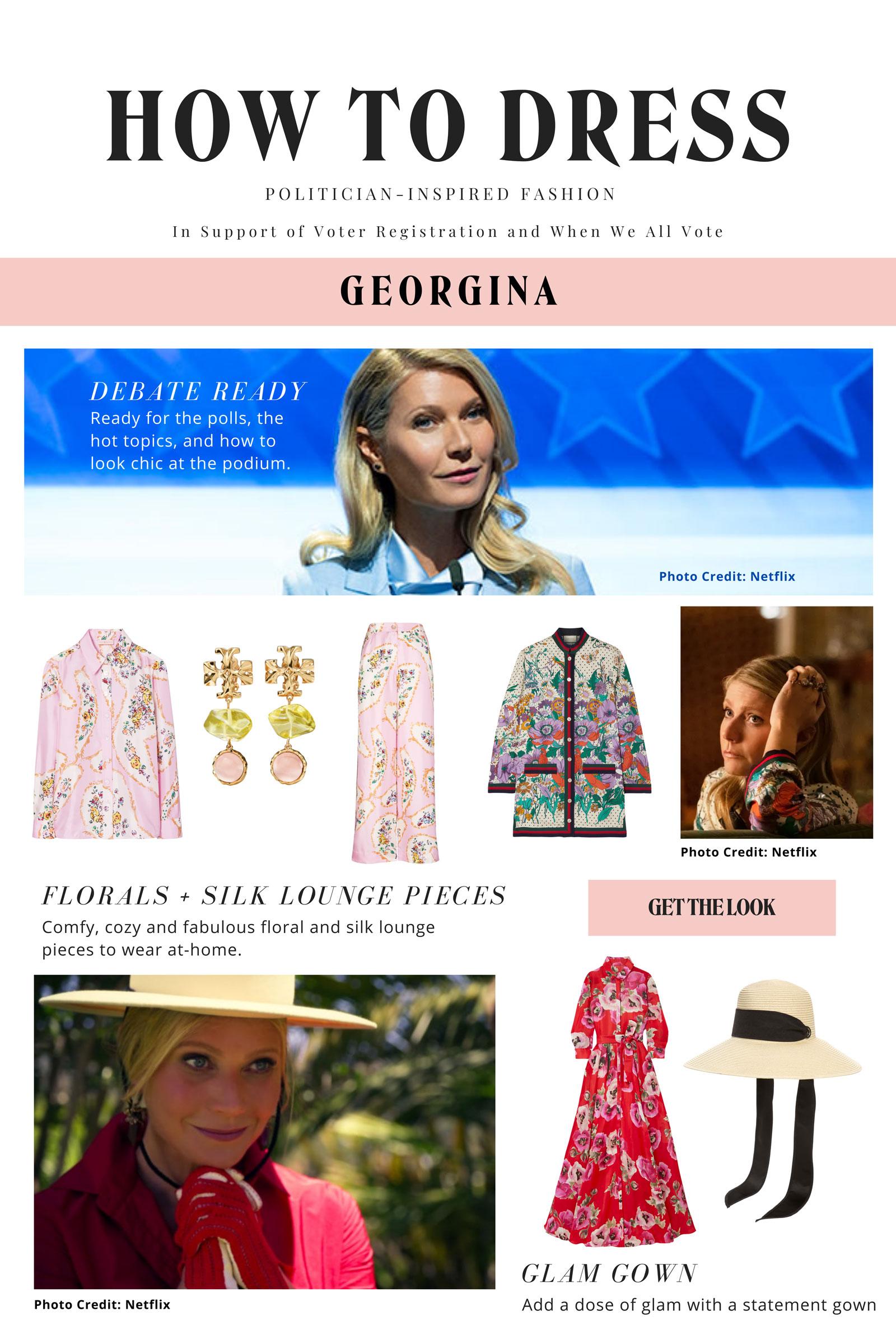Politician Georgina Outfit Ideas
