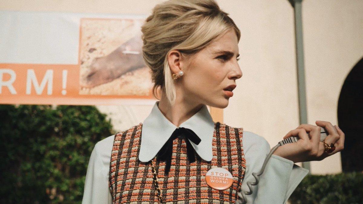 Politician Lucy Boynton Fashion