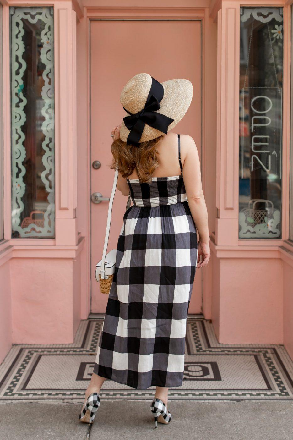 Jennifer Lake Kate Spade Black Gingham Dress
