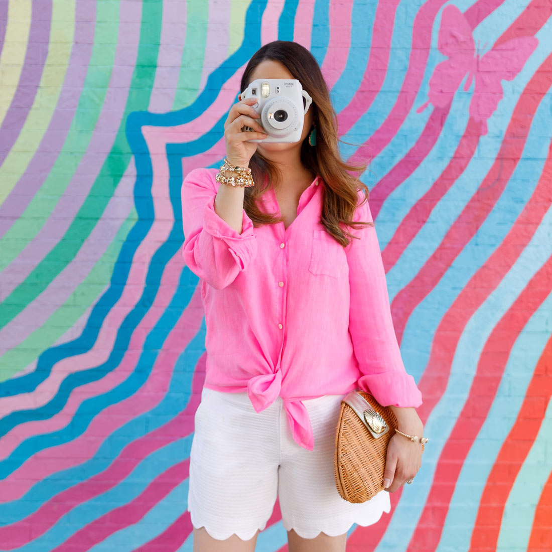Jennifer Lake Lilly Pulitzer Scallop Shorts