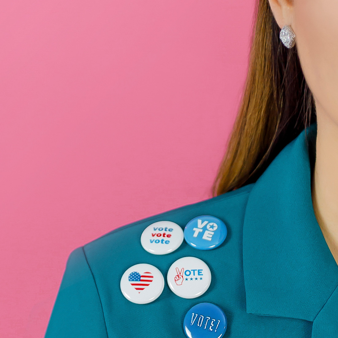 Jennifer Lake Politician Buttons
