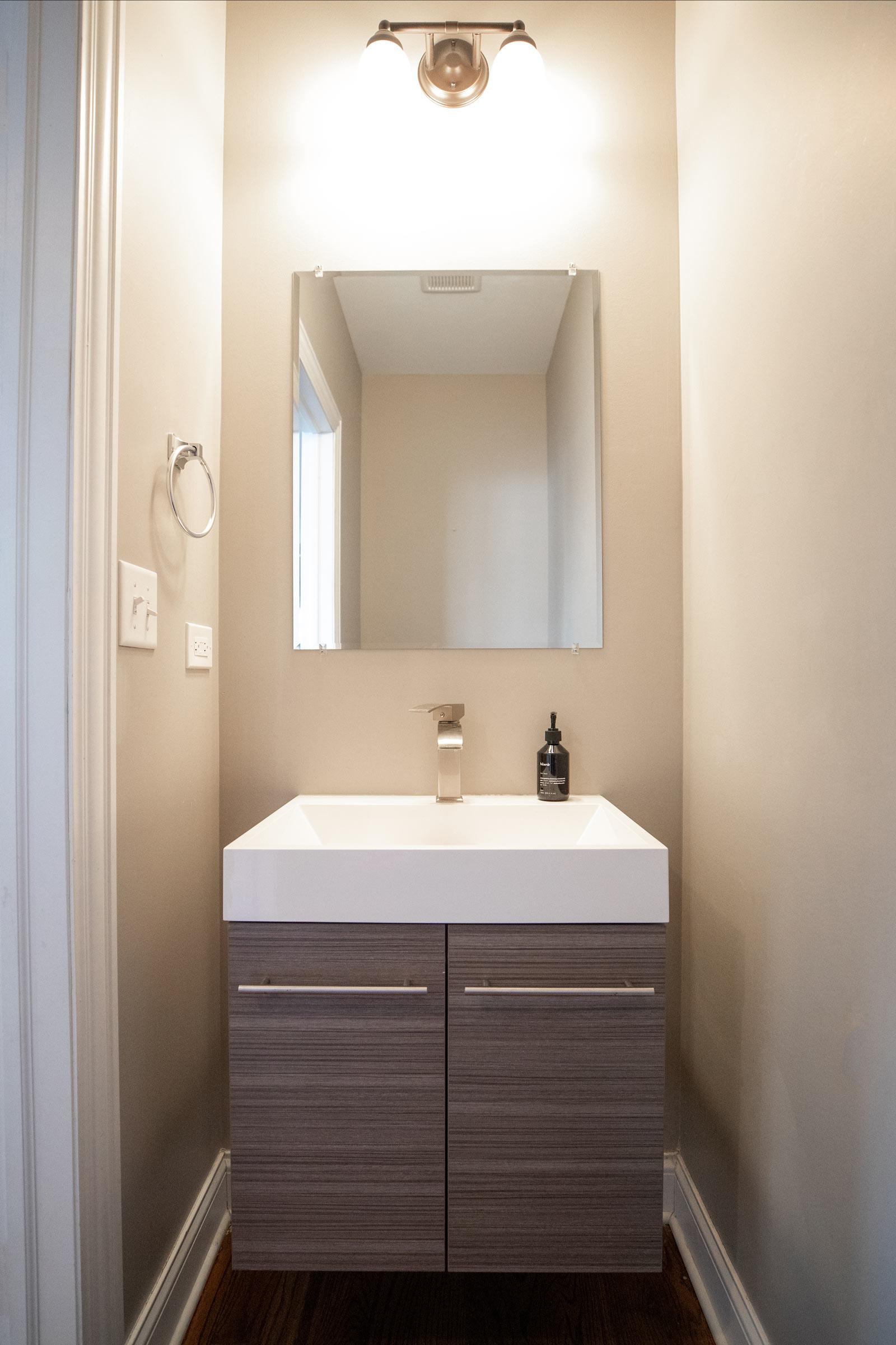 Jennifer Lake Powder Room Redesign