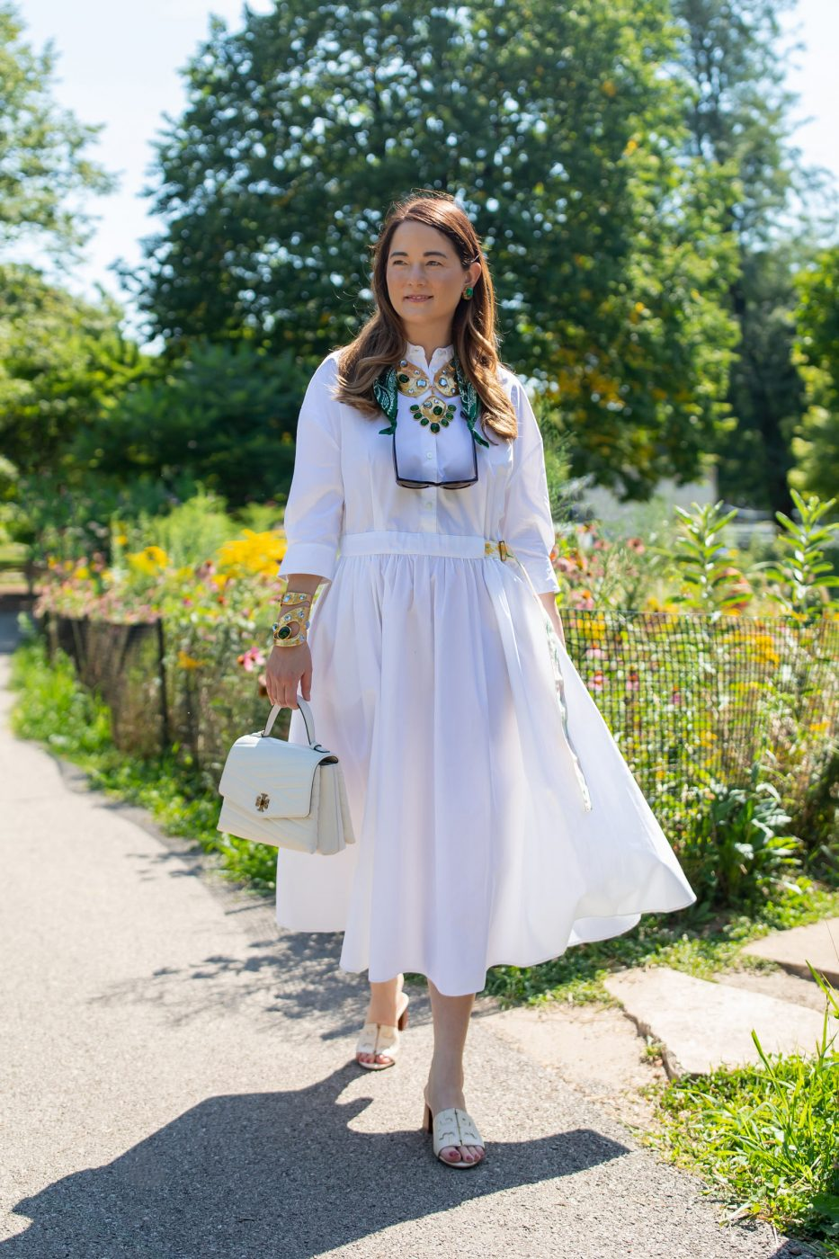 Jennifer Lake White Poplin Shirtdress