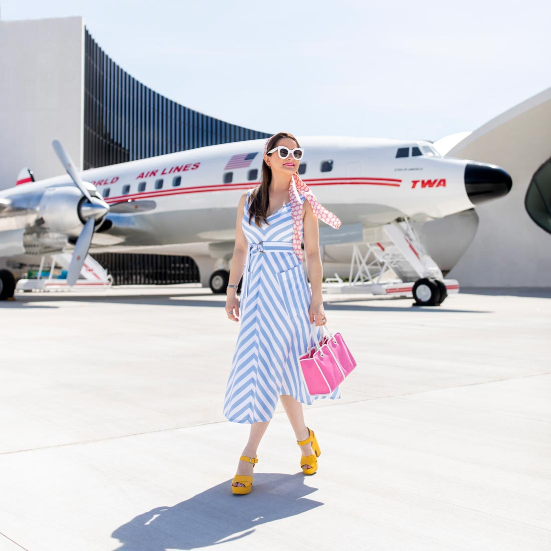 Jennifer Lake TWA Hotel Plane