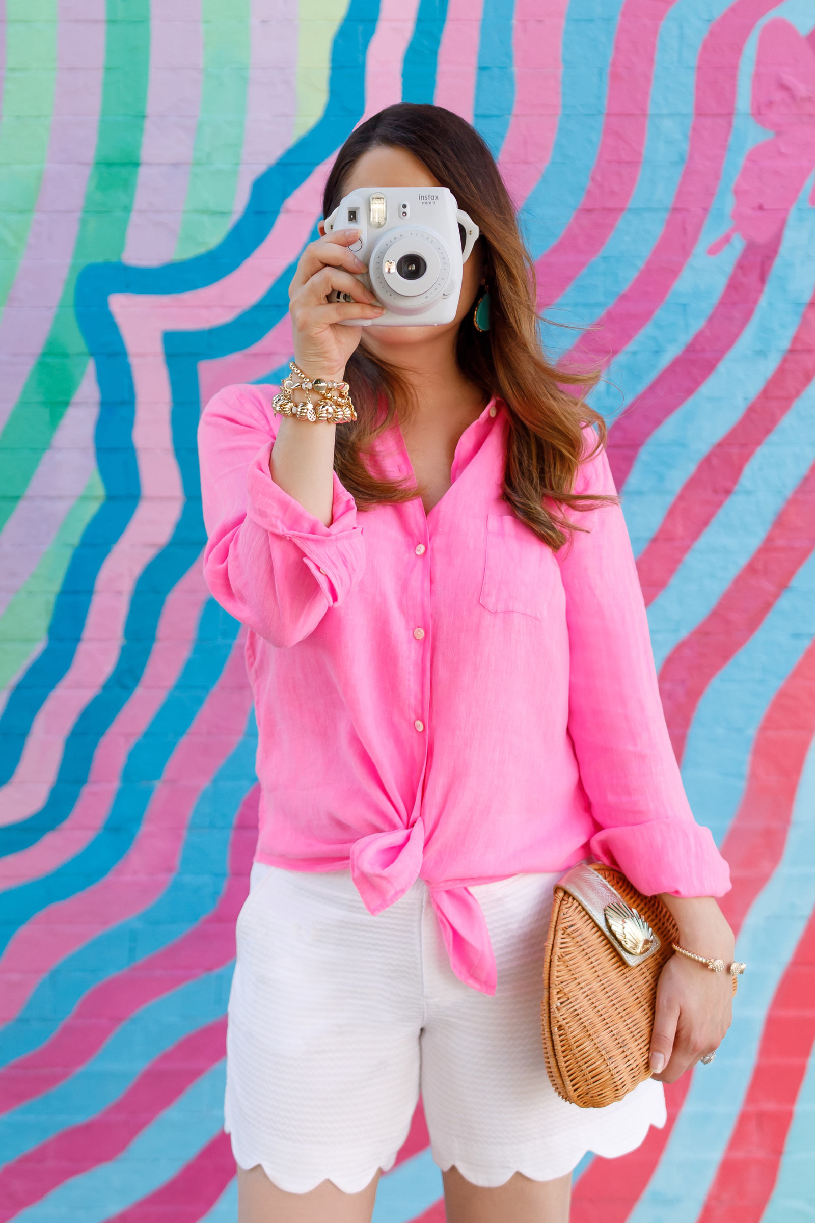 Lilly Pulitzer White Scallop Shorts