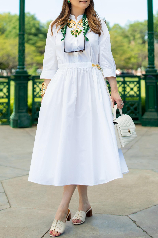 Tory Burch Pre Fall White Dress