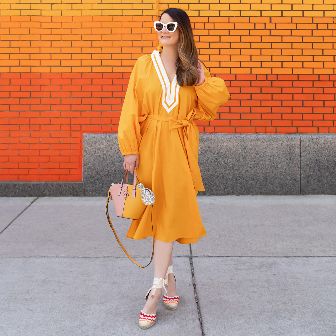 Tory Burch Yellow Tunic