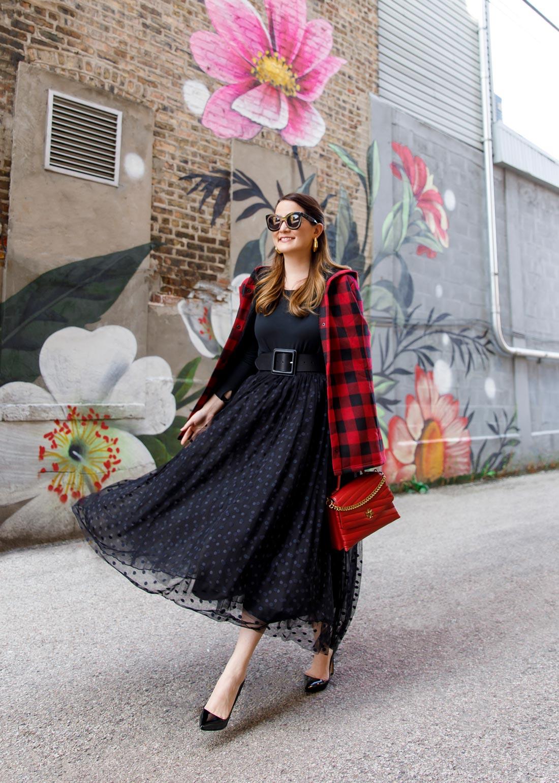 Atlantic-Pacific Black Tulle Skirt