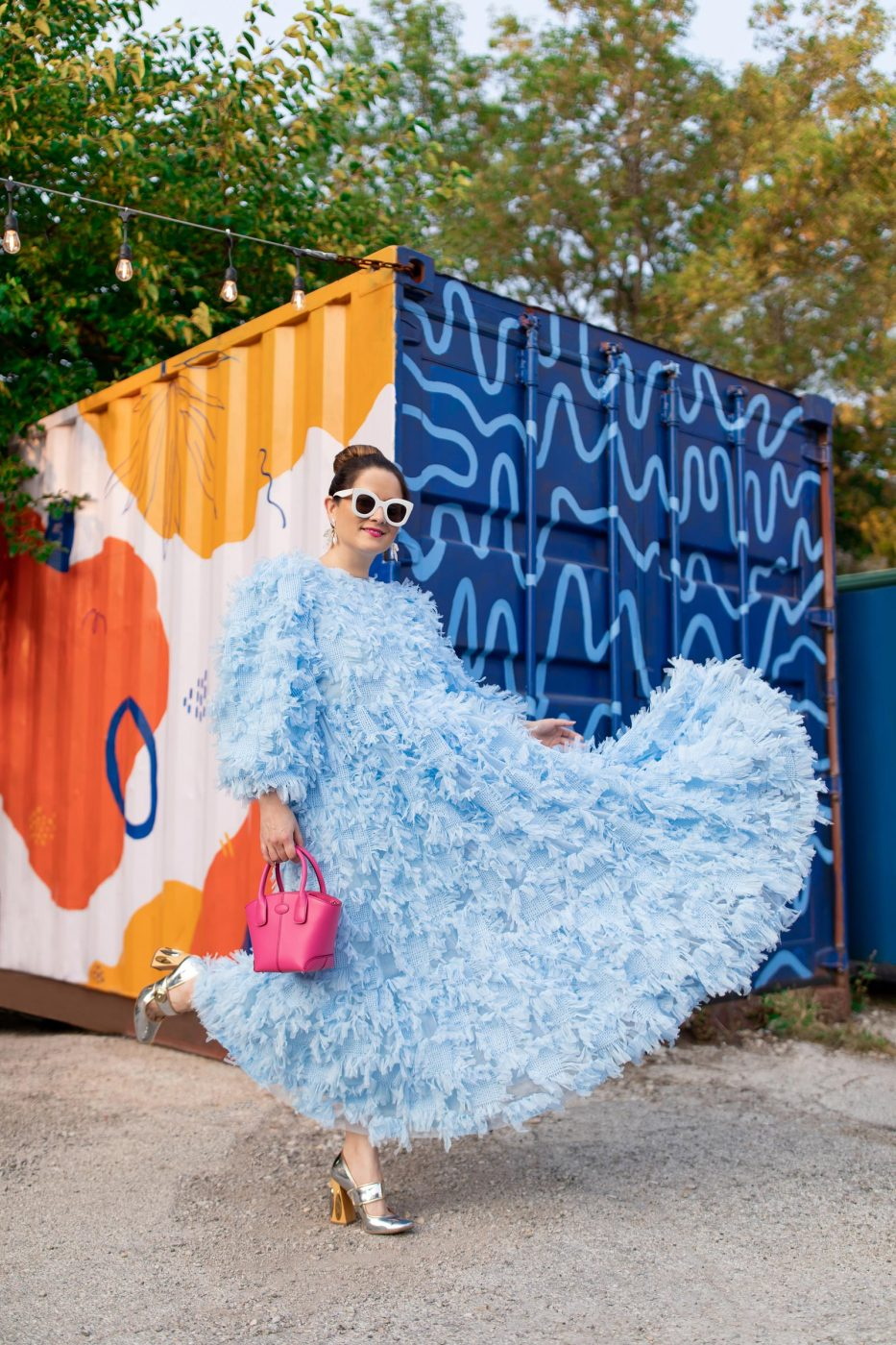Jennifer Lake ASOS Blue Dress