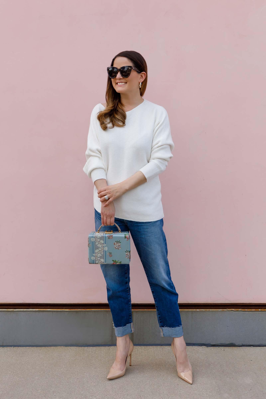 Jennifer Lake White Express Sweater