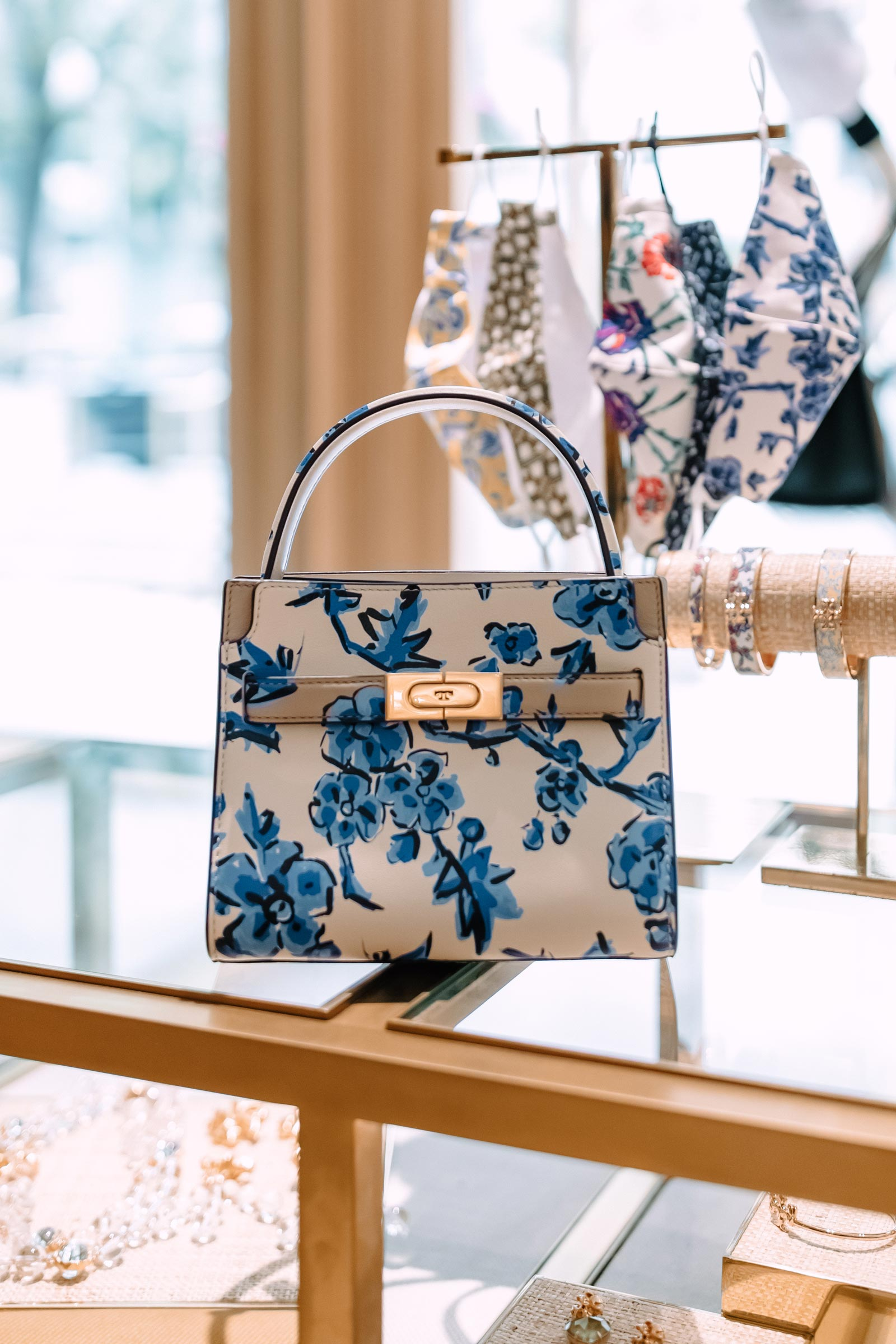 Tory Burch Floral Lee Radziwill Bag