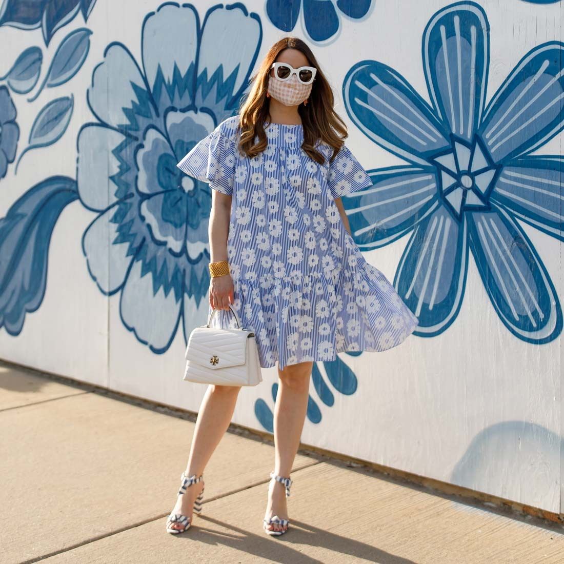 WHIT Blue Floral Dress