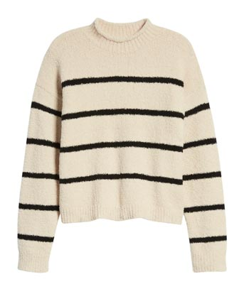 Womens Striped Sweater