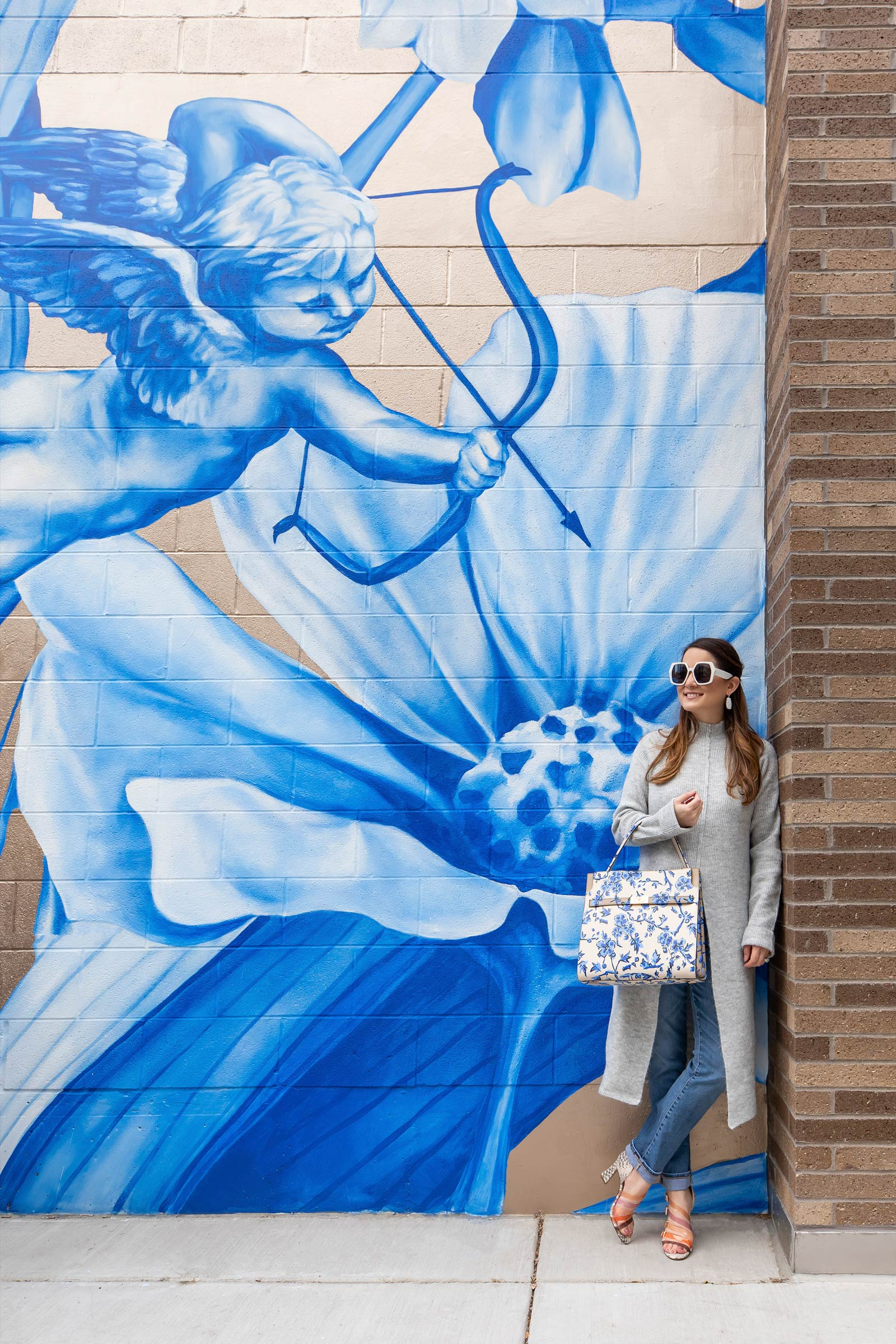 Jennifer Lake Blue Cupid Mural Chicago