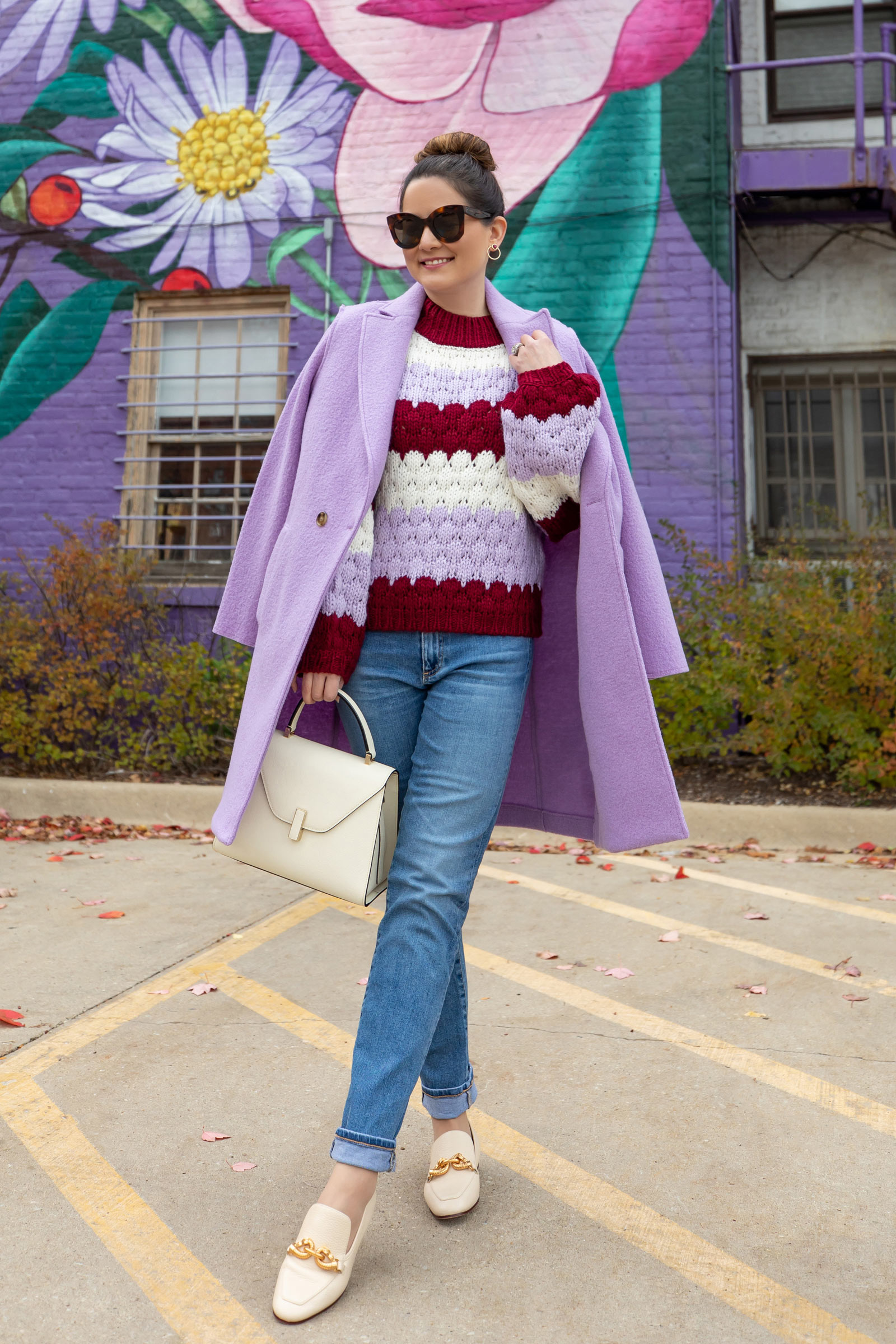 Jennifer Lake J. Crew Lavender Coat