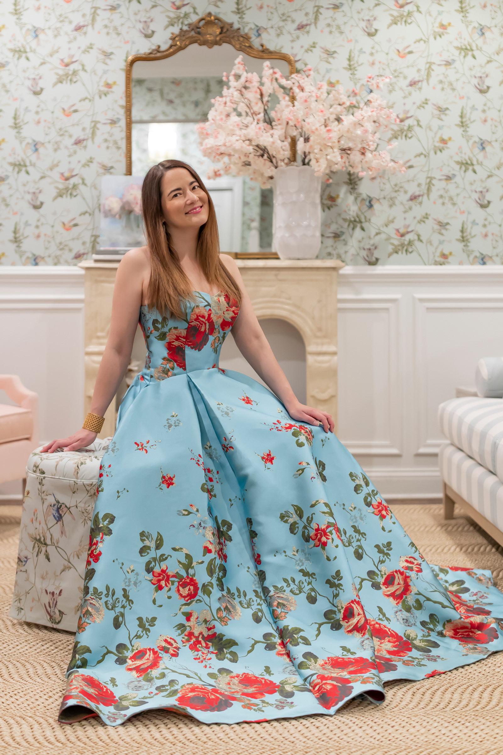 Jennifer Lake Mestiza Floral Gown