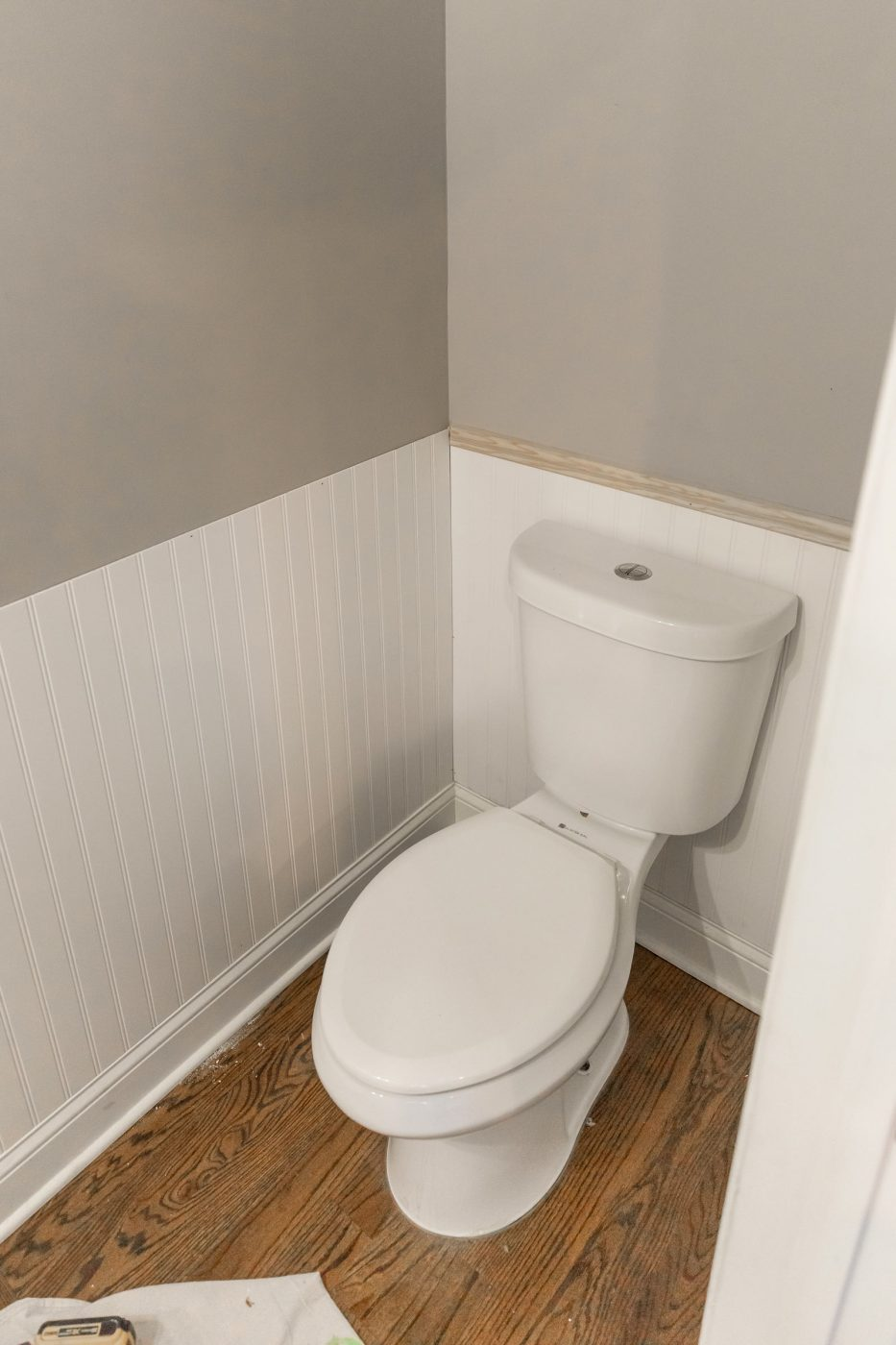 Powder Room Shiplap Moulding