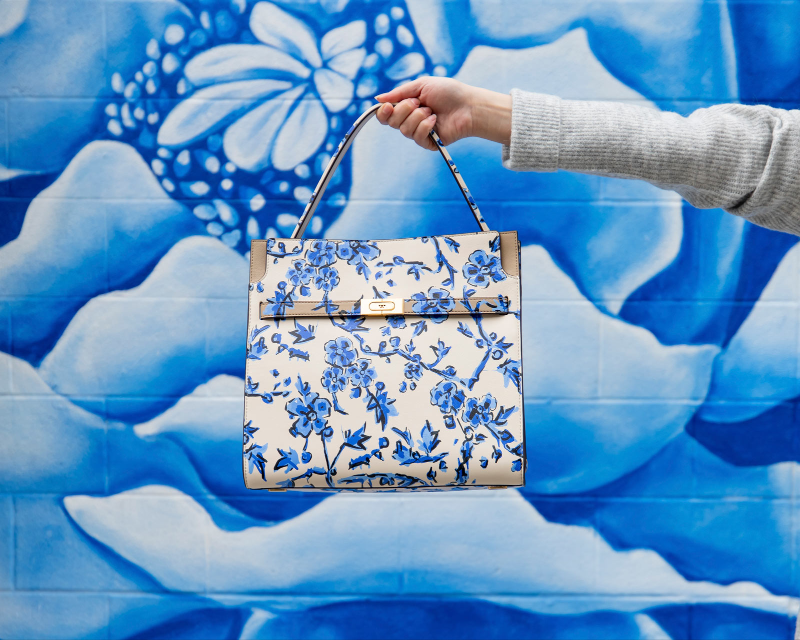 Tory Burch Lee Radziwill Double Floral Bag