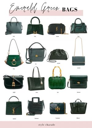 The Best Emerald Green Handbags