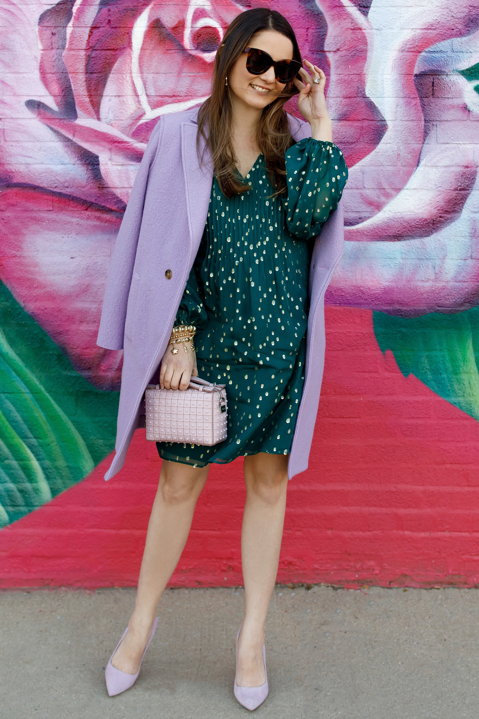 Emerald Green Lavender Outfit