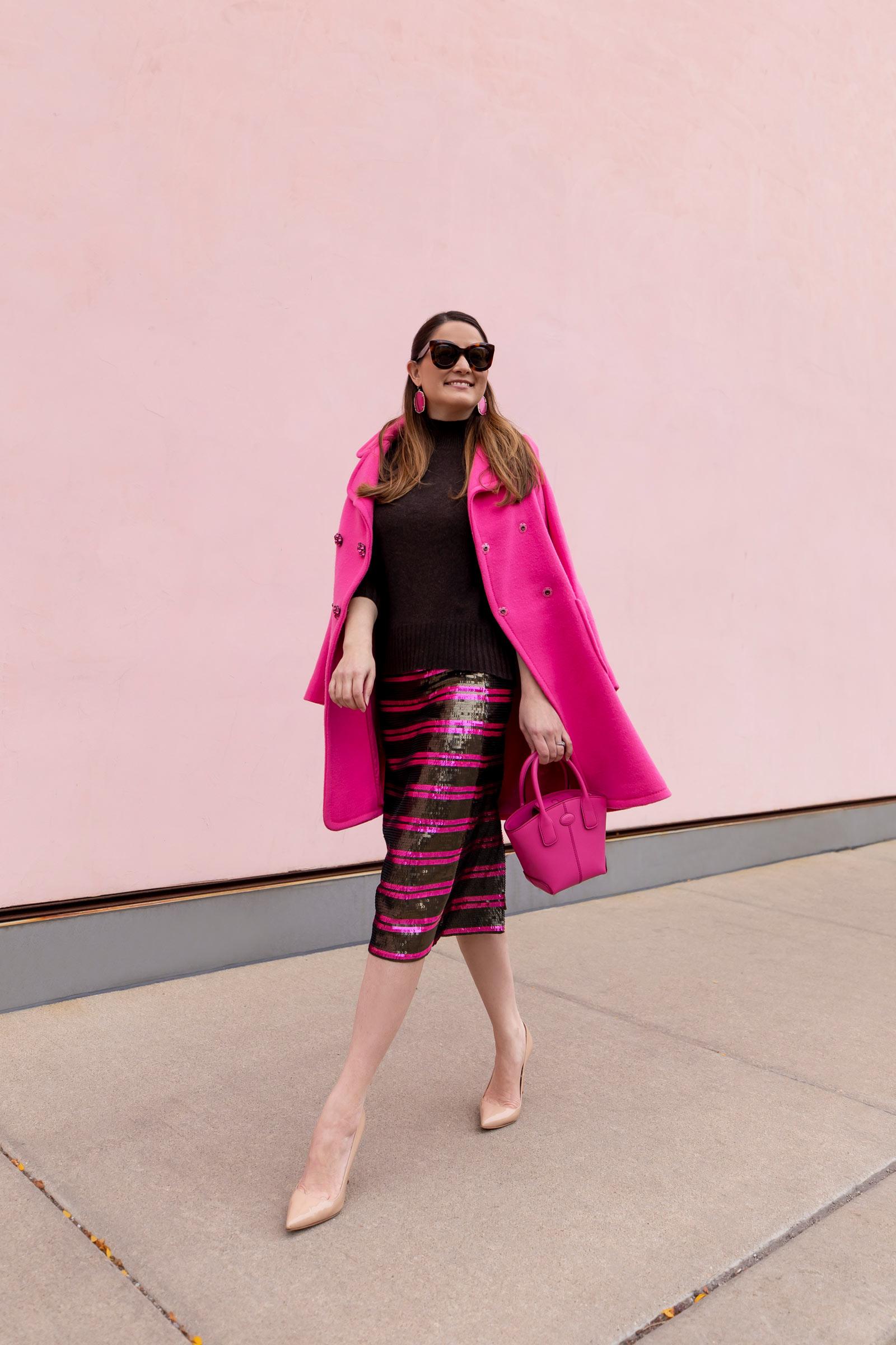 Jennifer Lake J. Crew Sequin Skirt