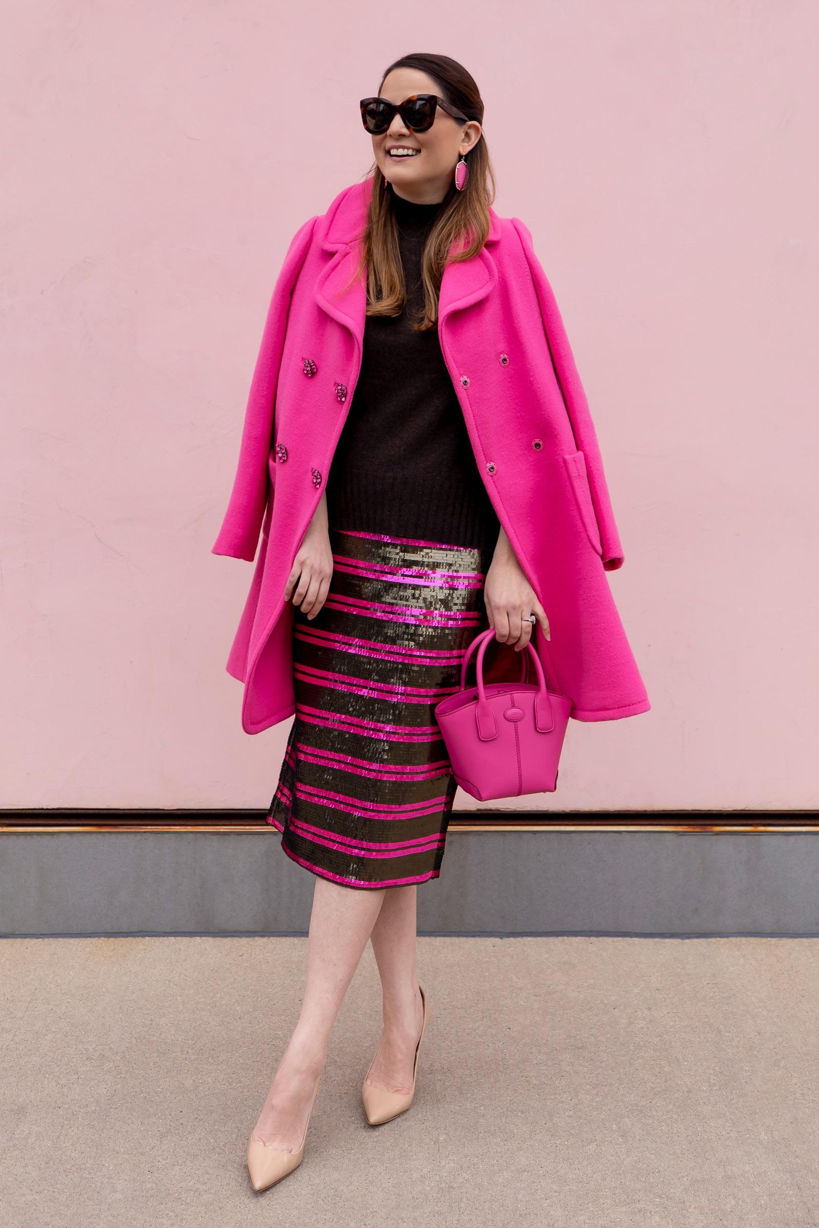 Jennifer Lake J. Crew Sequin Stripe Skirt