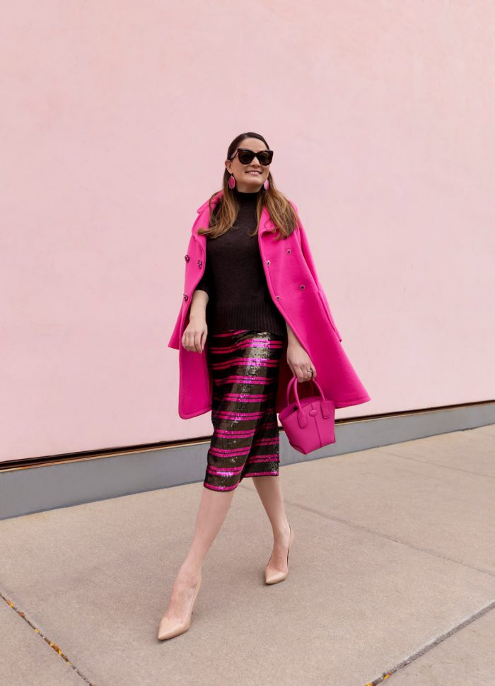 A Sequin Stripe Skirt for the Season Ahead
