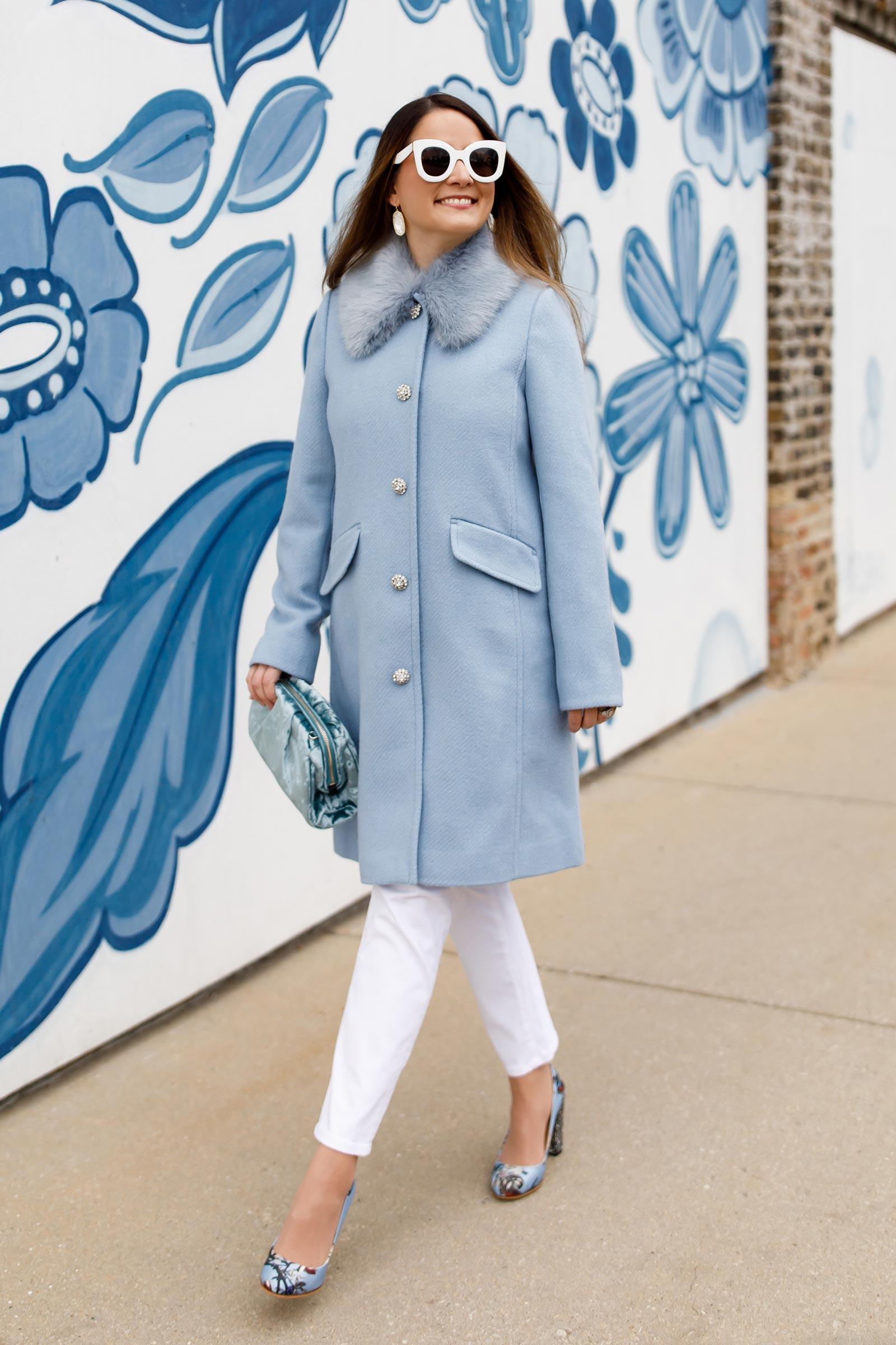 Jennifer Lake Kate Spade Metallic Tweed Coat