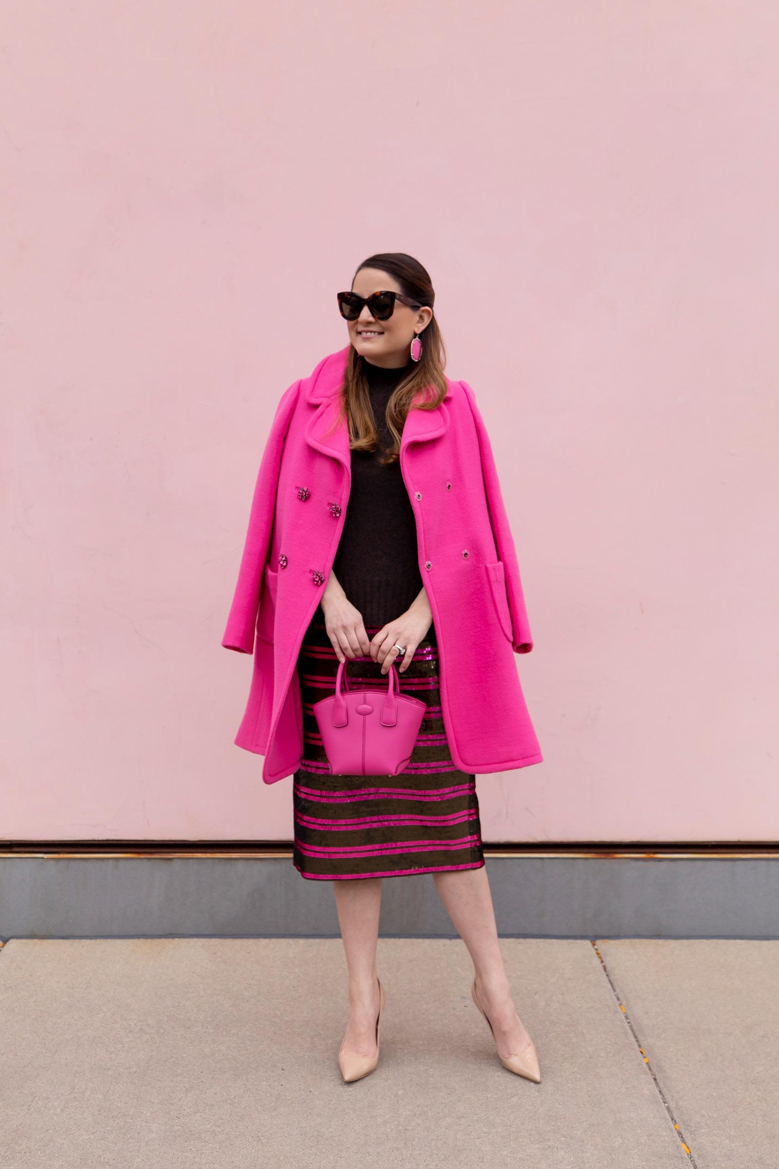 Jennifer Lake Kate Spade Pink Coat