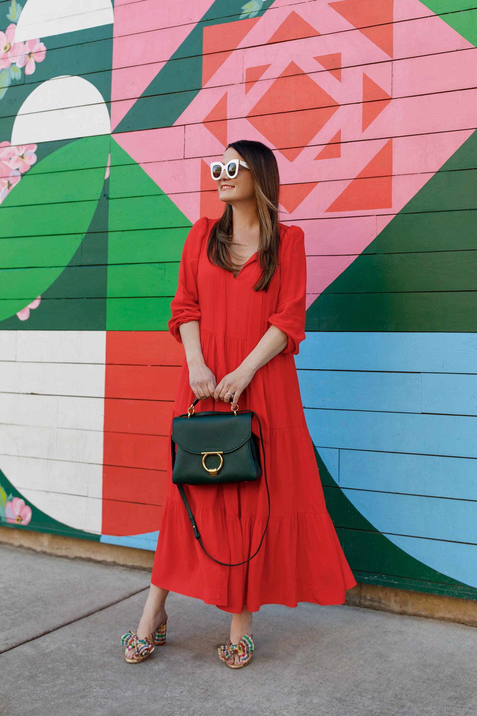 Jennifer Lake Sail to Sable Anne Red Dress