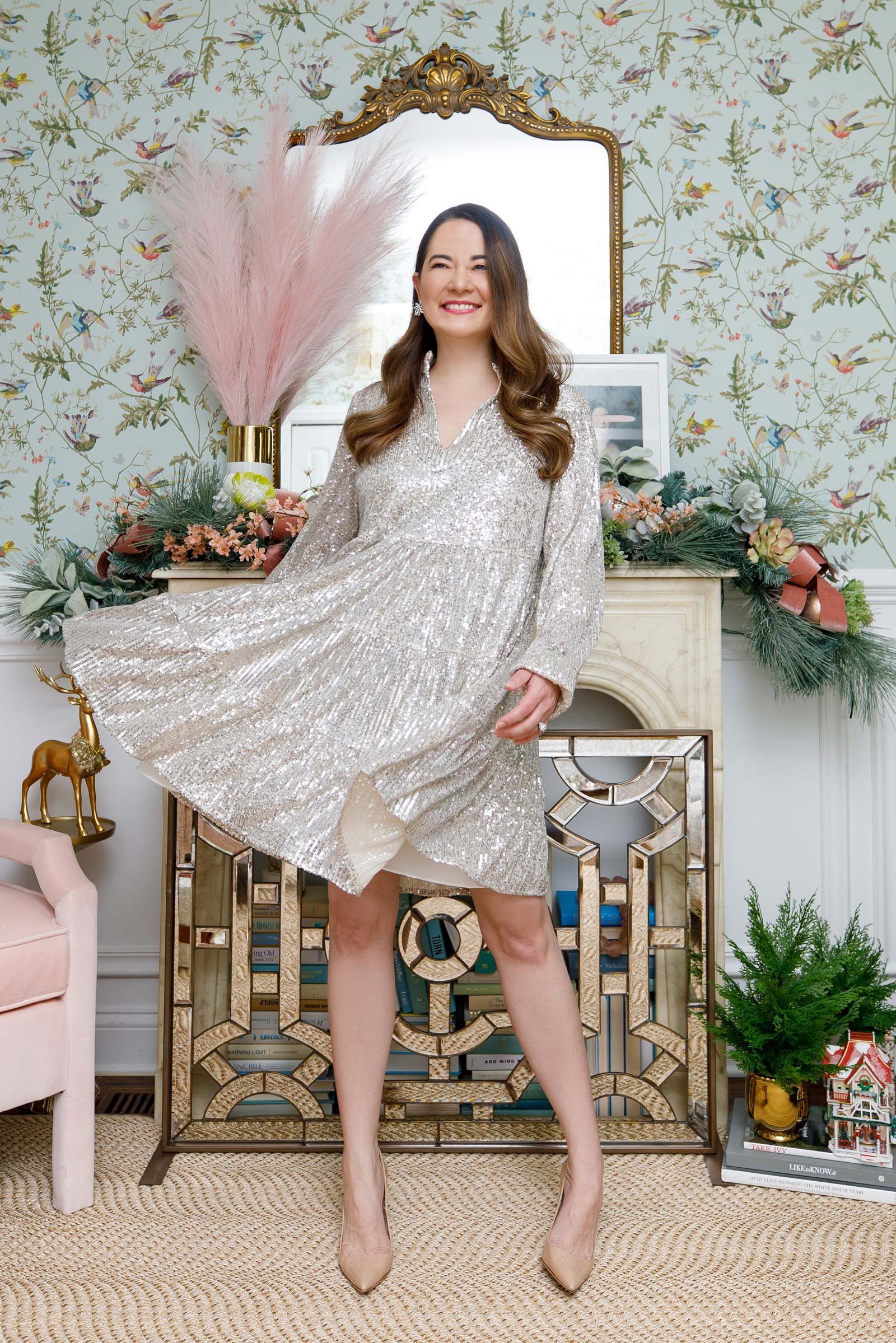 Jennifer Lake Sail to Sable Holiday Sequin Dress