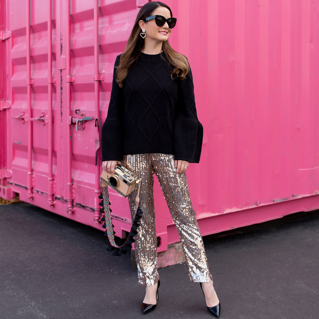 Jennifer Lake Sequin Pants