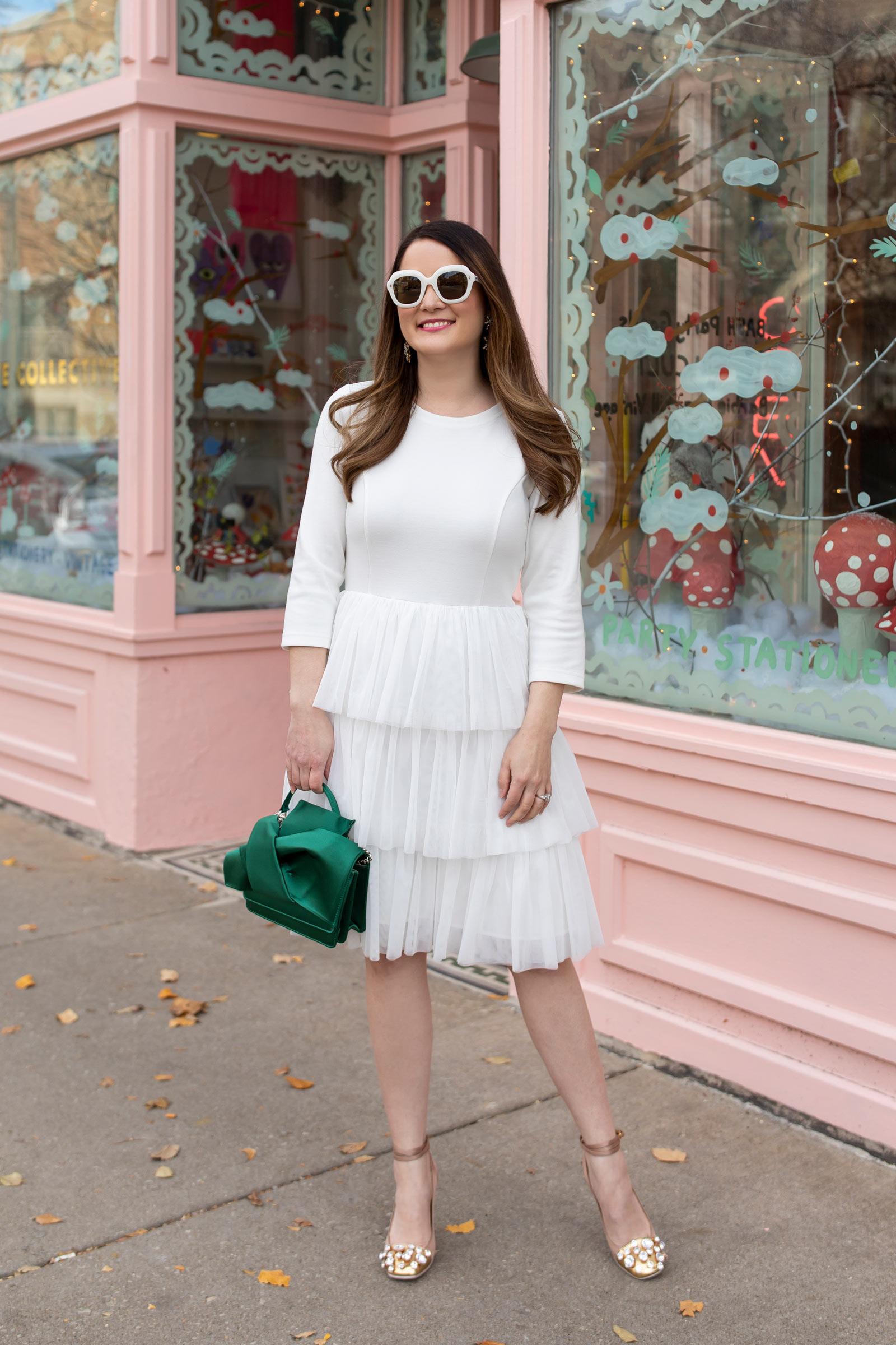 Jennifer Lake STS White Tulle Dress
