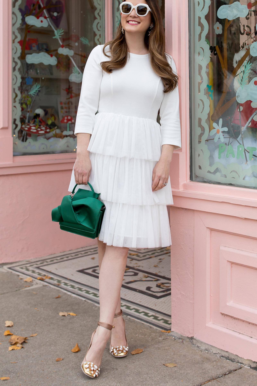 Jennifer Lake White Tulle Dress