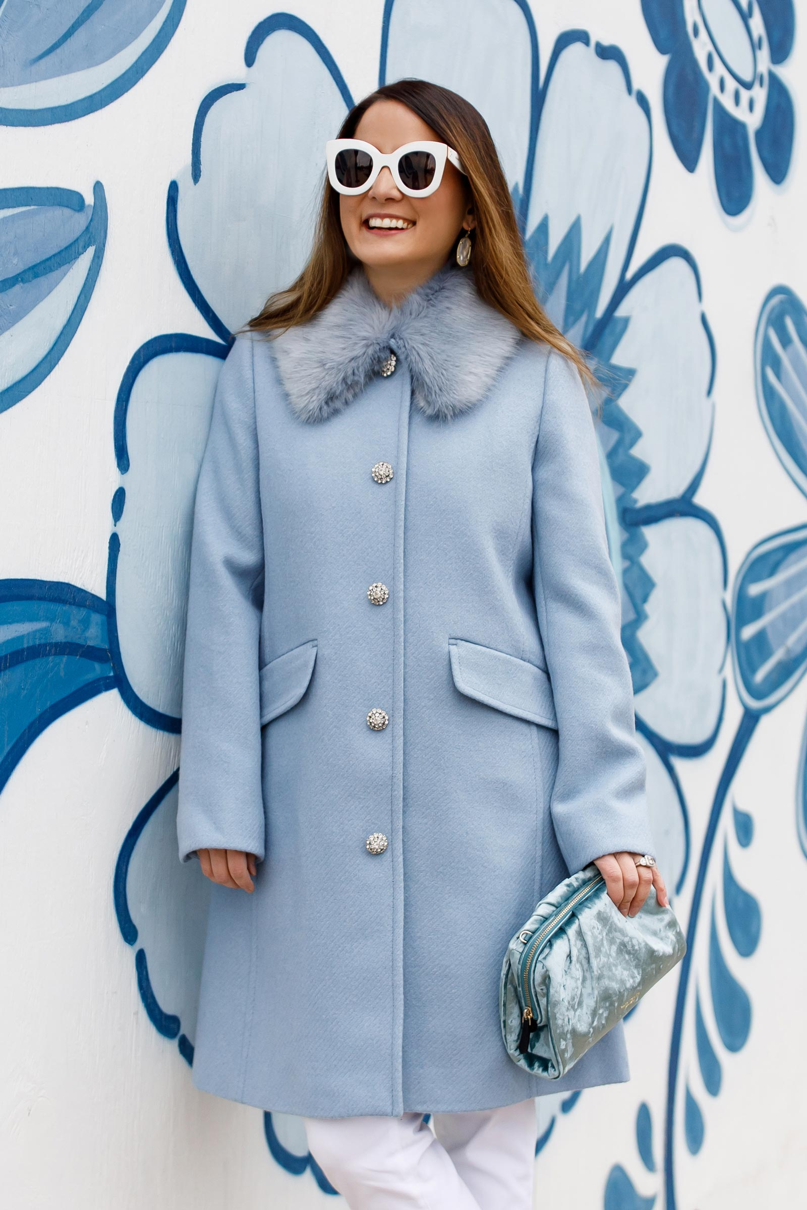 Kate Spade Cornflower Blue Coat