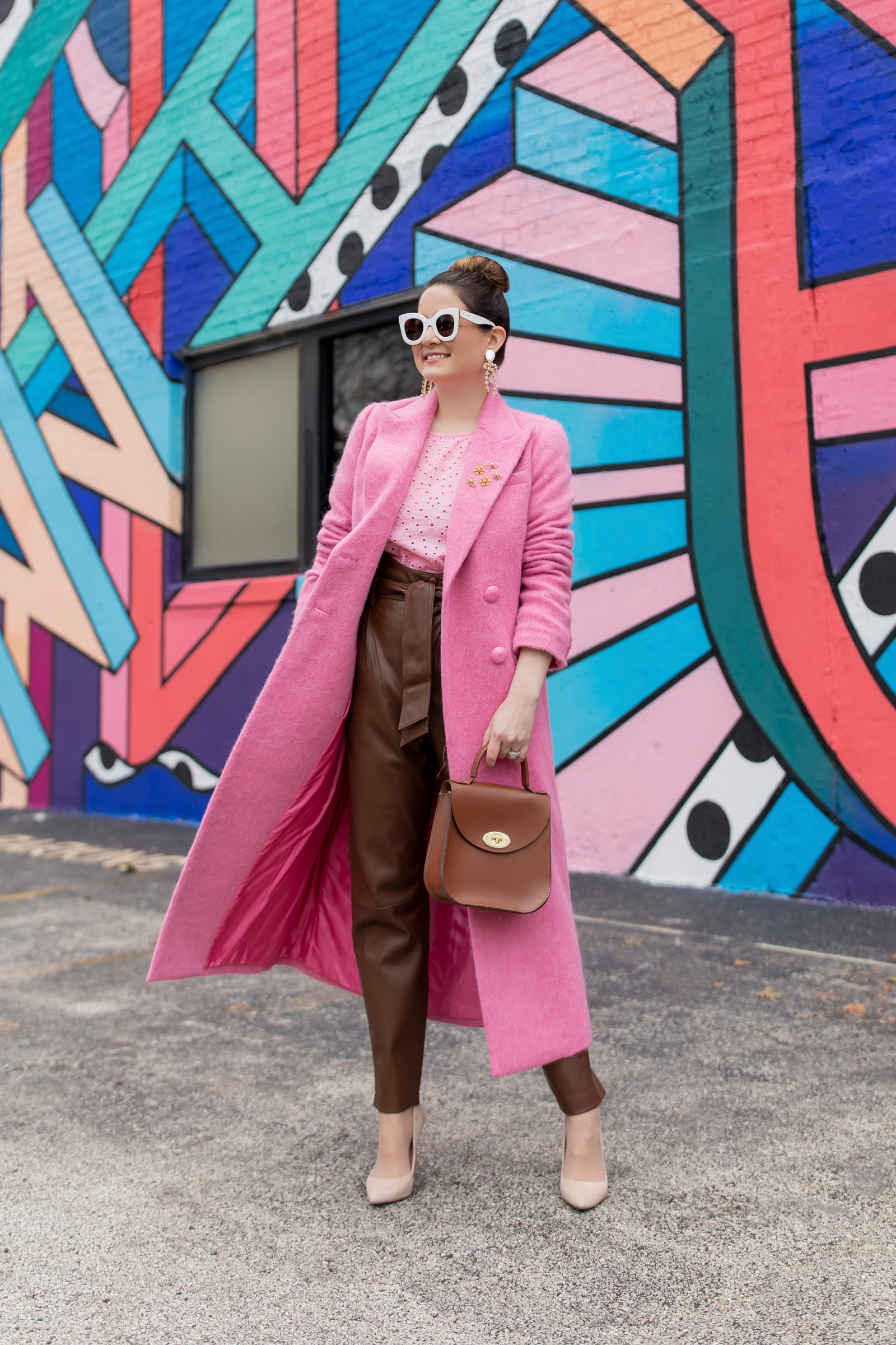 LoveShackFancy Pink Coat
