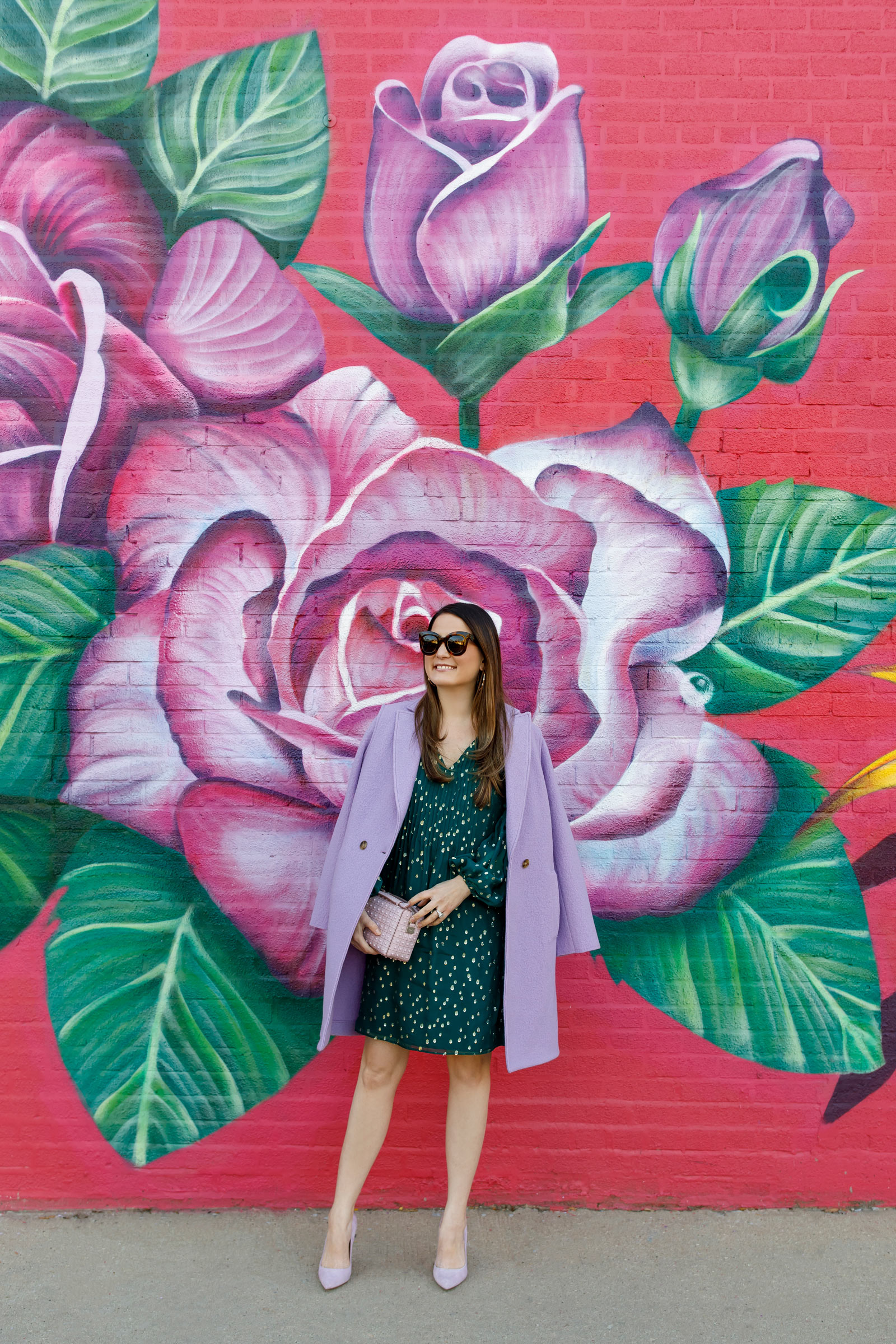 Purple Floral Mural Chicago