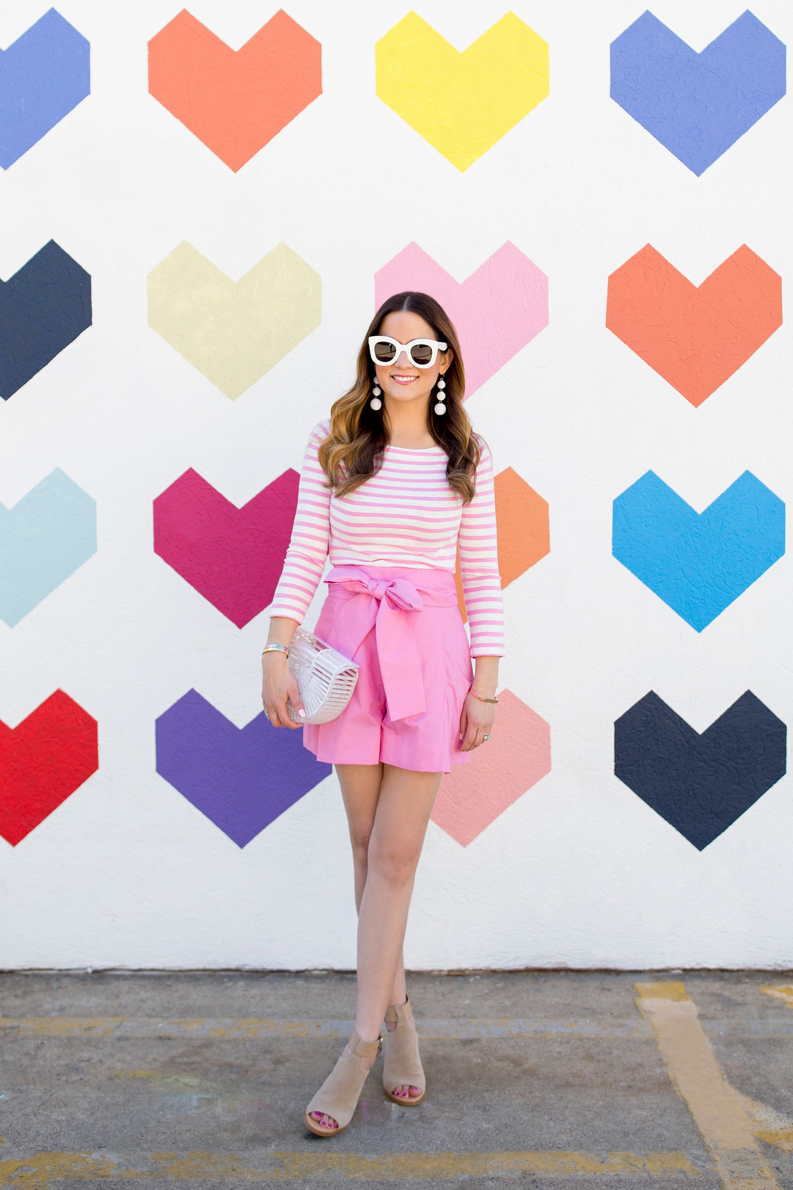 J. Crew Pink Bow Shorts